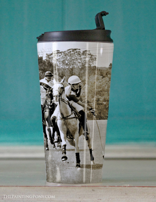 Polo Horses Travel Tumbler