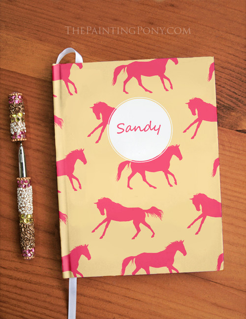 Personalized Equestrian Horses Designer Hardbound Journal