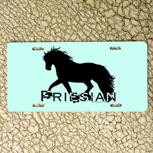 Friesian Horse License Plate