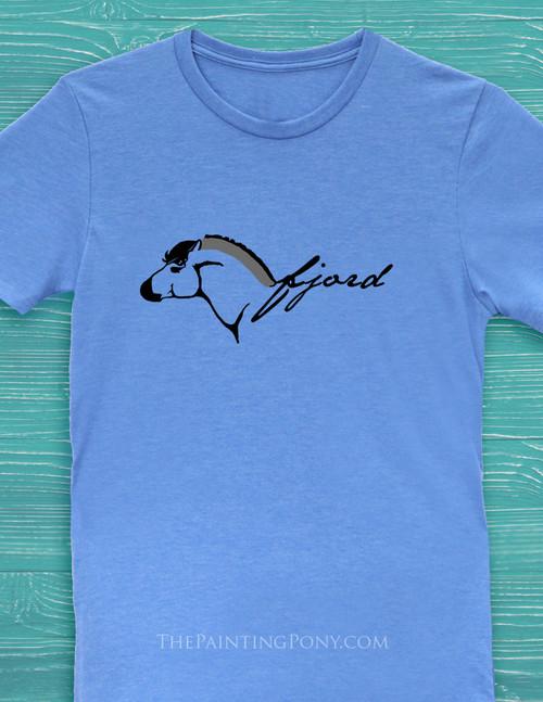 Norwegian Fjord Horse Adult T-Shirt