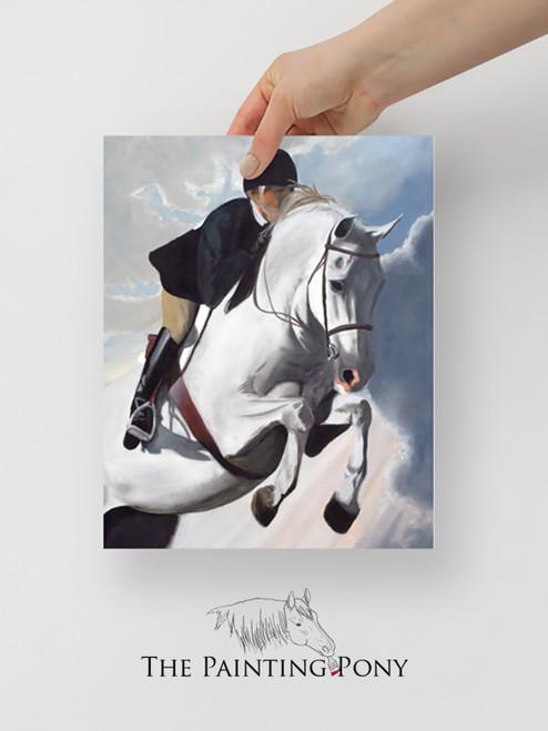 Hunter Jumper Equestrian Fine Art Print