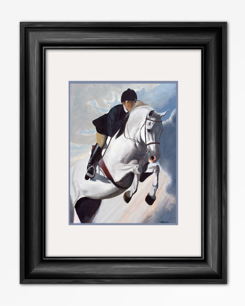 Hunter Jumper Horse Equestrian painting art reproduction print.