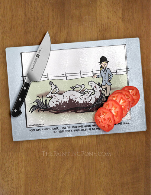 Funny Horse Comic Glass Cutting Board