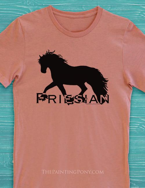 Friesian Horse Adult T-Shirt