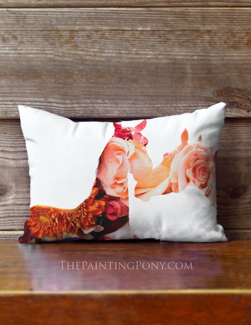 Equestrian Bloom Accent Pillow