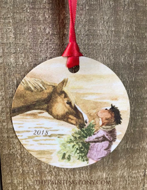Morning Hay Equestrian Holiday Ornament