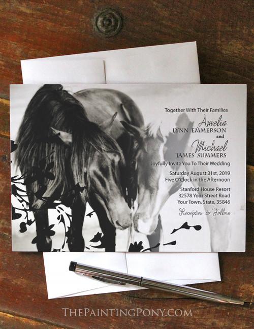 Pony Love Equestrian Wedding Invitation (10 pk)