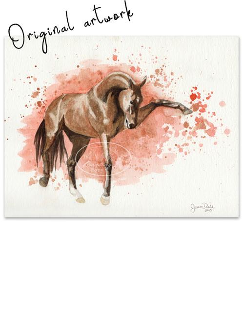 """""""Gardiyan"""" Abstract Horse Painting"""