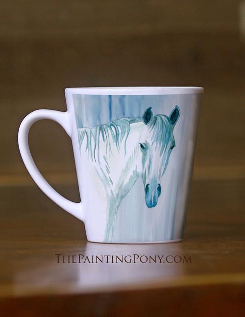 Blue Mare Equestrian Latte Mug