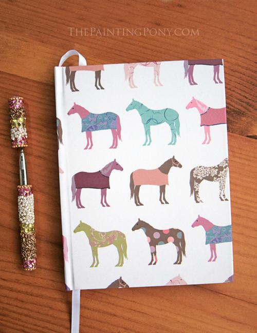 Colorful Horses Equestrian Designer Hardbound Journal