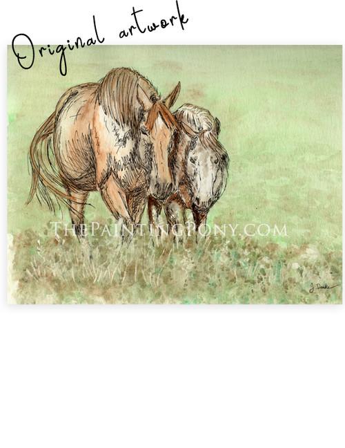 """Pasture Buddies"" Horse Painting"