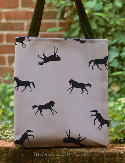 Galloping Horses Pattern Tote Bag