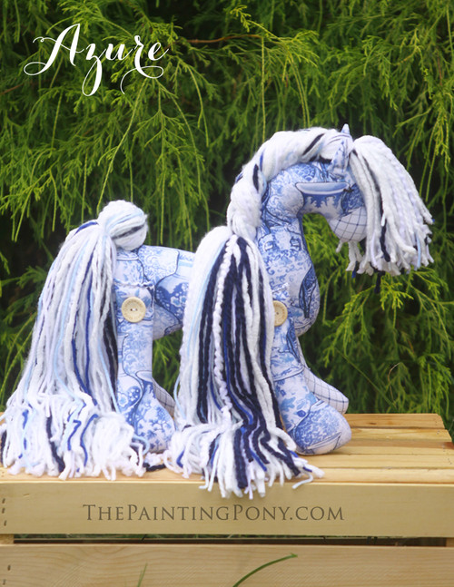 "Flopsy Cotton Pony ""Azure"""