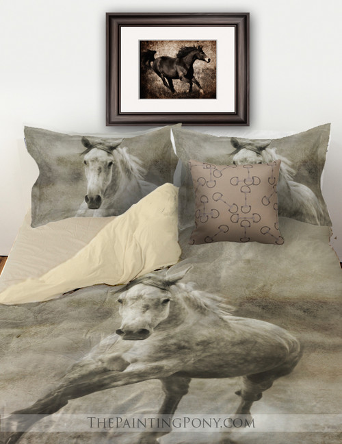 Rustic Galloping Horse Bedding Set
