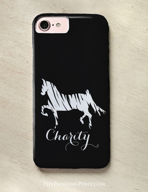 Saddlebred Horse Personalized Phone Case