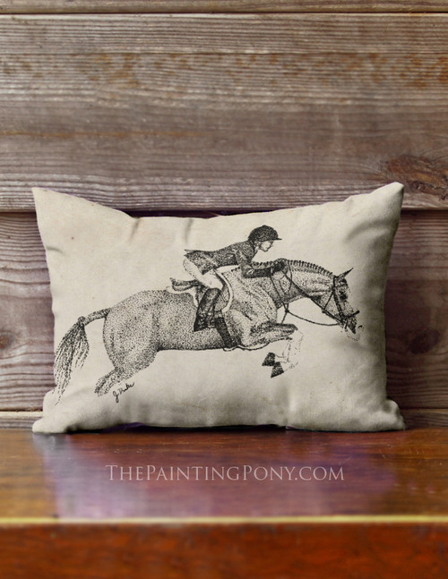Hunter Pony Accent Pillow