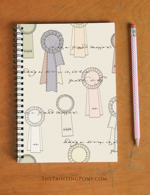 Horse Show Ribbon Pattern Spiral Notebook
