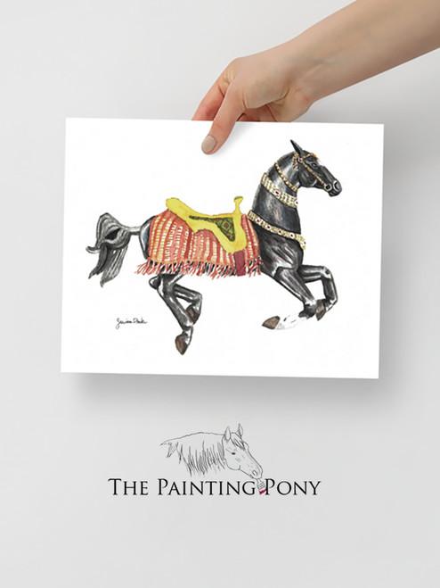 Akhal-teke carousel horse Fine Art Print