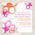 Hot Pink and Orange Wild Flowers Wedding Invitation