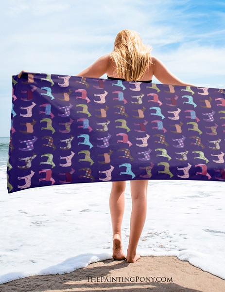 Fun Horse Lover Beach Towel