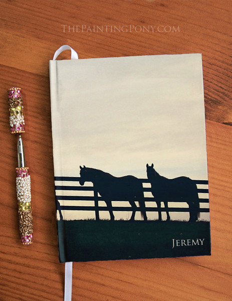 Country Horses at the Fence Hardbound Journal