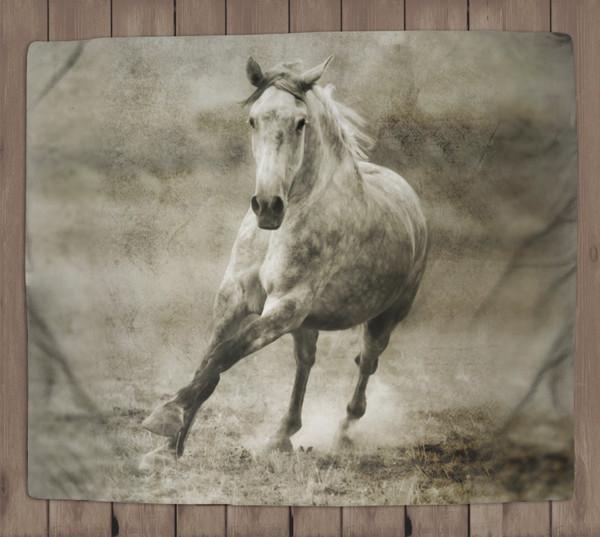 Galloping Horse Fleece Blanket