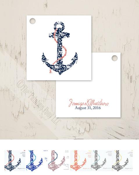 Ship Anchor Wedding Gift Tags (25 pk)