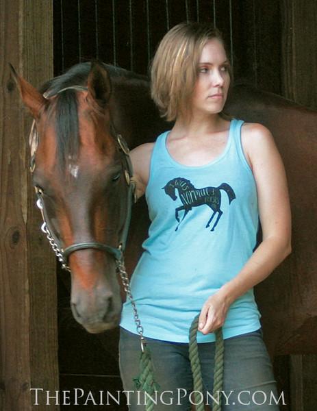 I Was Normal 3 Horses Ago Equestrian Racerback Tank Top