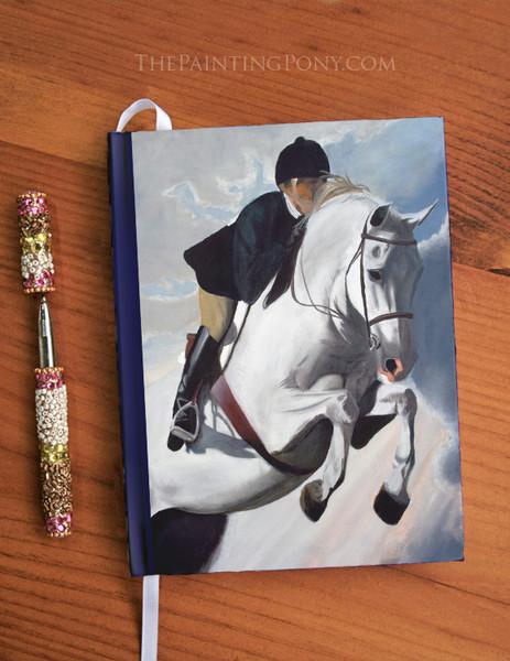 Hunter Jumper Horse Equestrian Designer Hardbound Journal