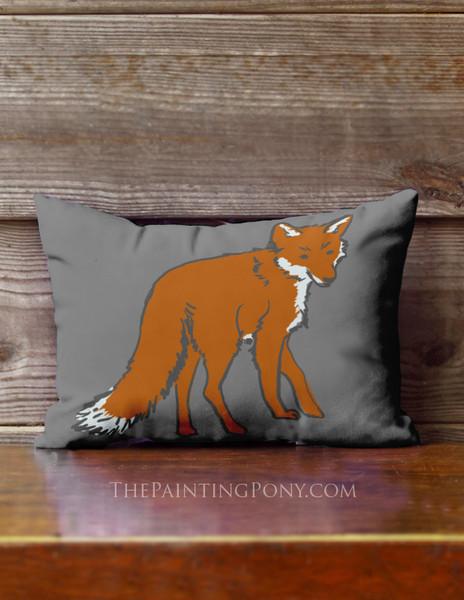 Cute Fox Accent Pillow
