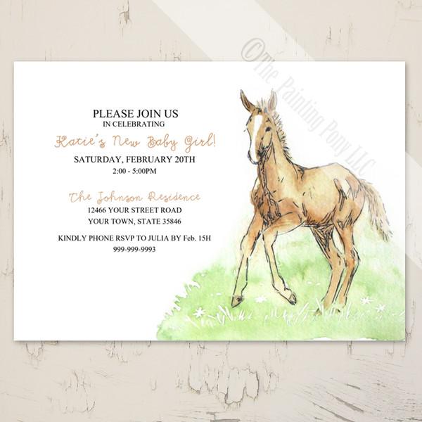 Horse Foal Baby Shower Invitation (10 pk)