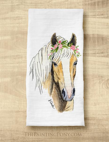 Haflinger Horse Lover Tea Towel