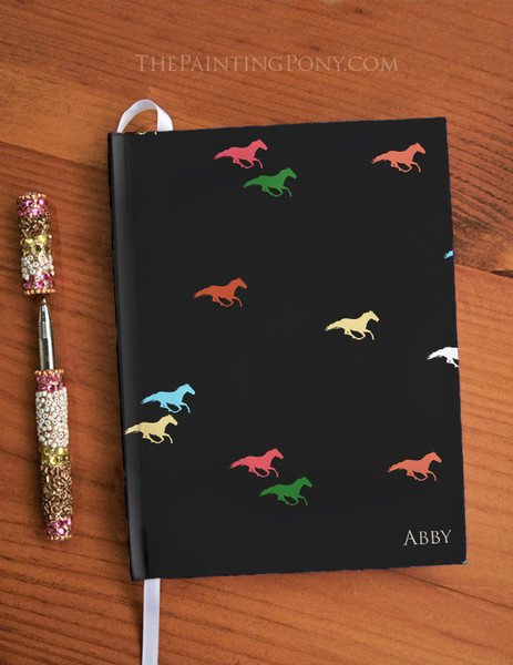 Personalized Galloping Horse Designer Hardbound Journal