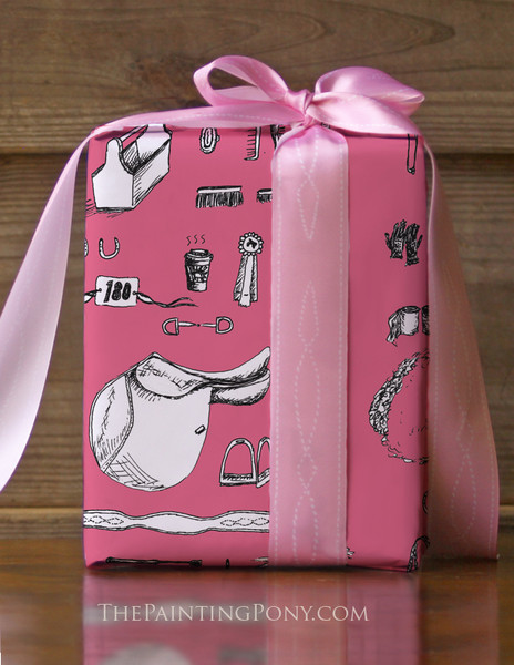 Horse Show Essentials Equestrian Gift Wrapping Paper
