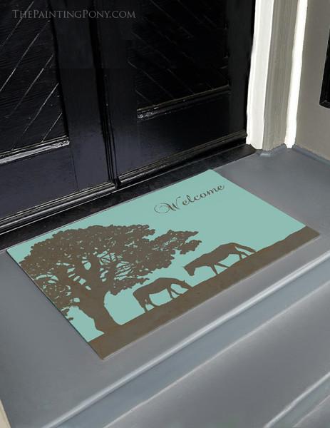 Horse Farm Personalized Equestrian Door Mat
