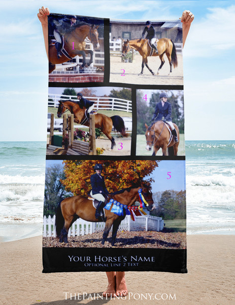 Personalized Horse Lover Beach Throw Towel