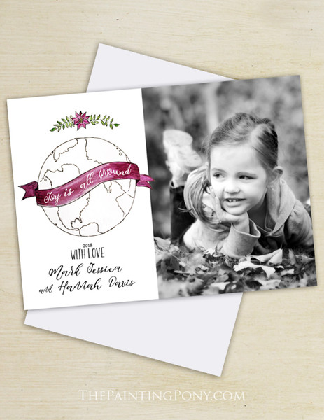 Joy is all Around the World Photo Holiday Cards (10 pk)
