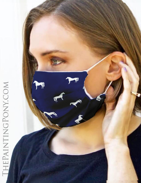 Classic Horse Pattern Equestrian Face Mask Coverlet (More Colors Available)