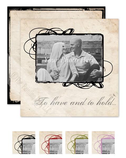 Vintage Photography Rustic Wedding invitation