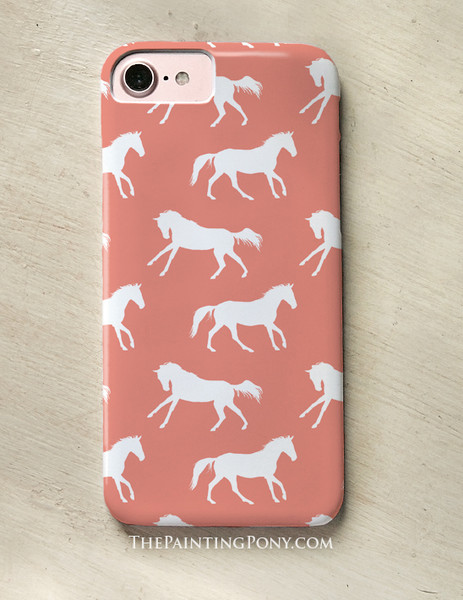 Galloping Horses Pattern Equestrian Phone Case (more colors available)