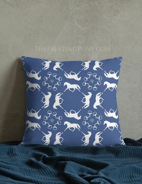 Trotting Horses Equestrian Throw Pillow