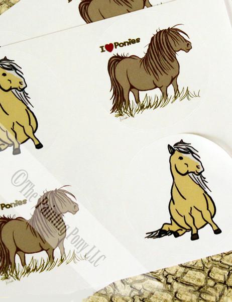 Cute Pony Cartoon Stickers