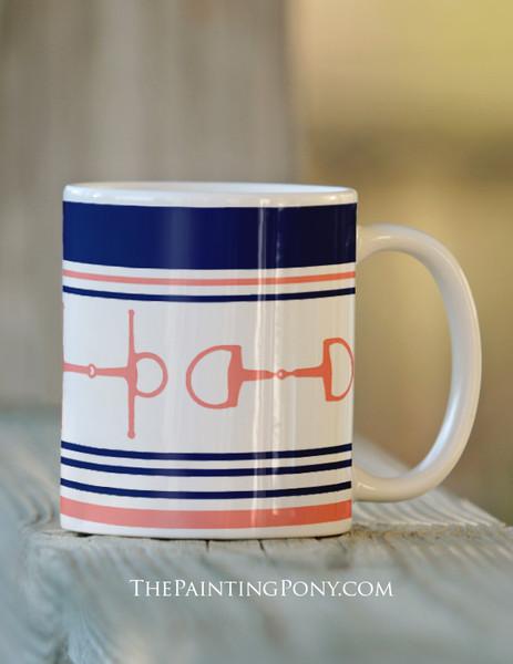 Pink and Blue Bits Horse Mug