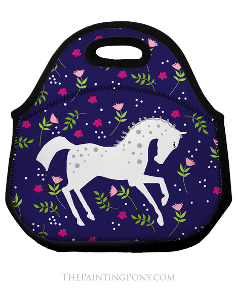 Whimsical Dappled Pony Equestrian Lunch Tote Bag