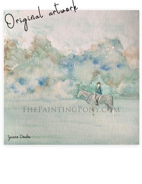 "Original Painting ""Dappled Gray in the Fog"""