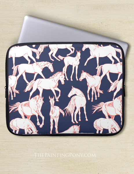 Horses All Over Equestrian Laptop Sleeve
