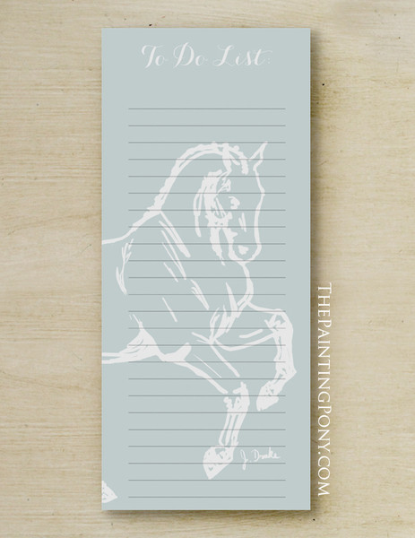 Dressage Horse Personalized Equestrian Notepad