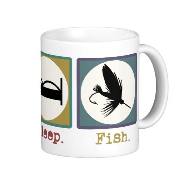 Eat Sleep Fish 11oz Mug