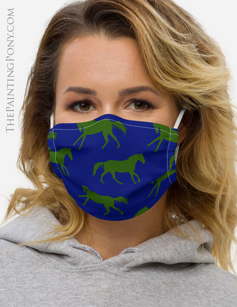 Galloping Horse Pattern Equestrian Face Mask Coverlet (More Colors Available)