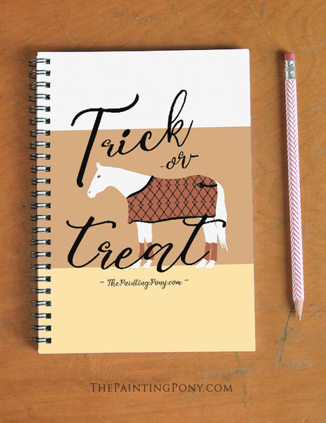 Trick Or Treat Halloween Horse Lover Spiral Notebook